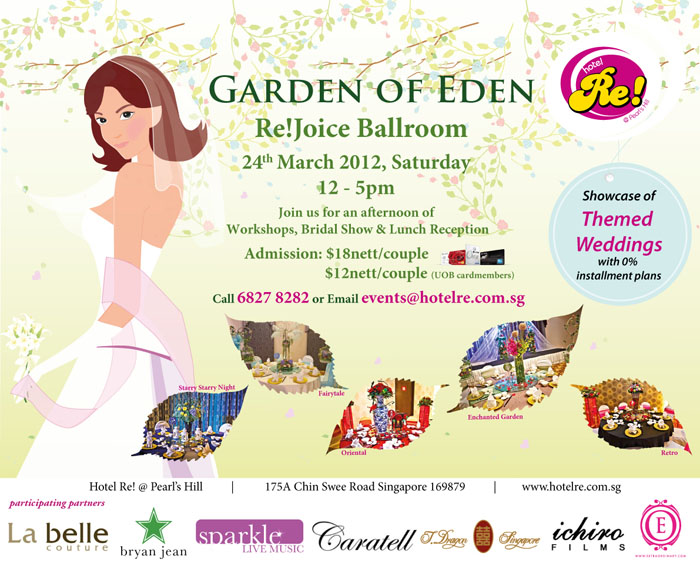 Hotel Re! Garden Of Eden Wedding Show Credit Card Promotion