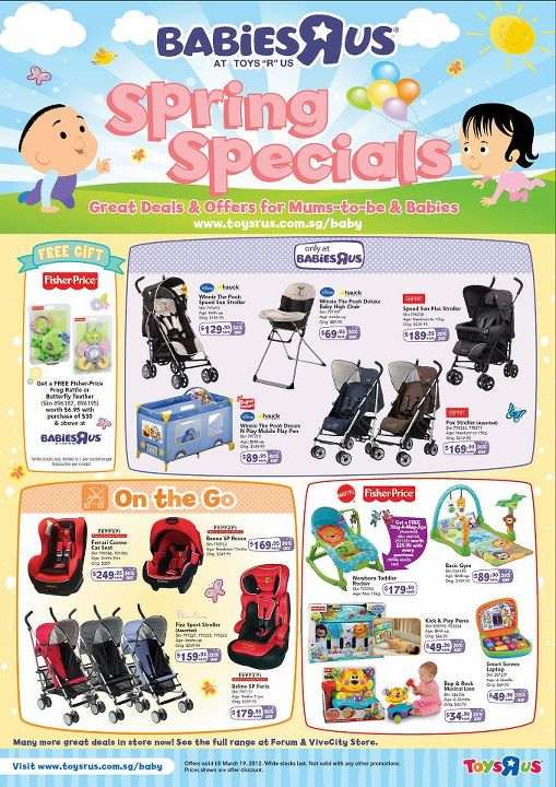 Toys 'R' Us Spring Specials for Mums and Babies