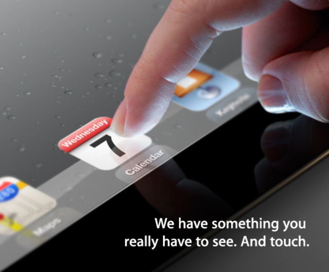 iPad 3 Event Announced, Higher Resolution & Buttonless?