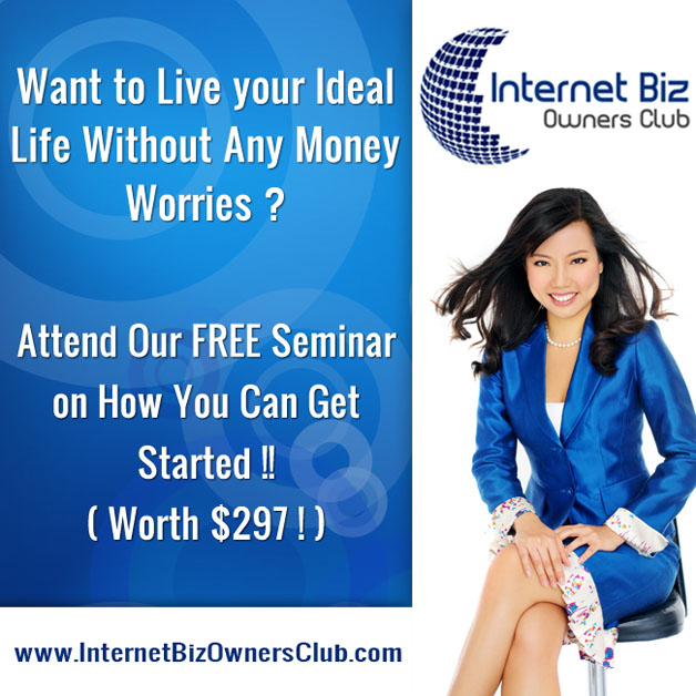 Free Introductory Seminar to Internet Marketing(worth $297) by Pam Siow