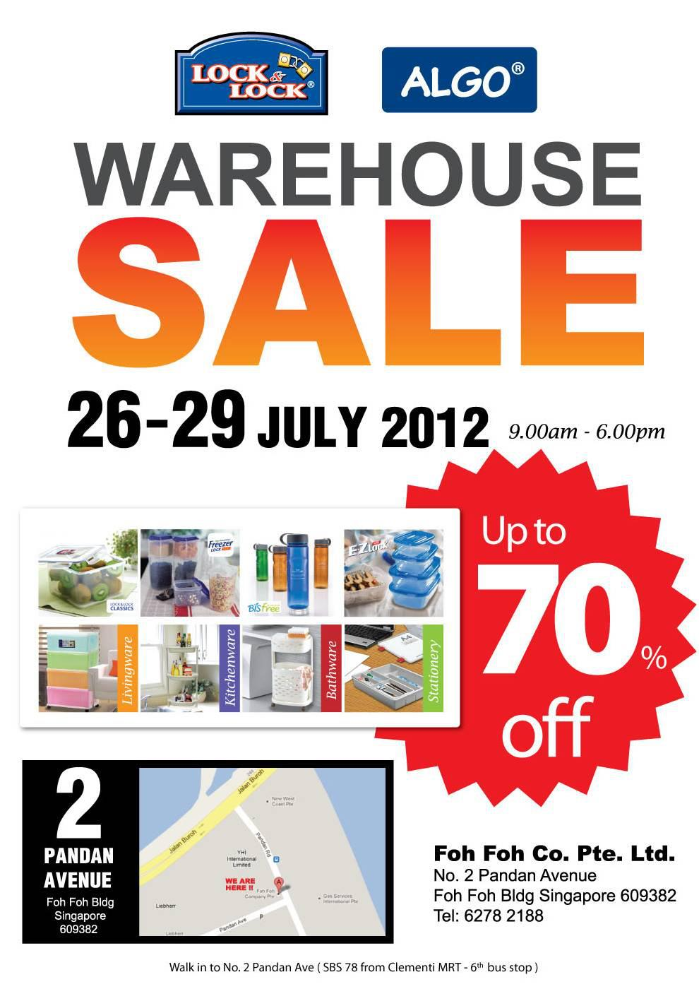 Lock & Lock and ALGO Warehouse Sale