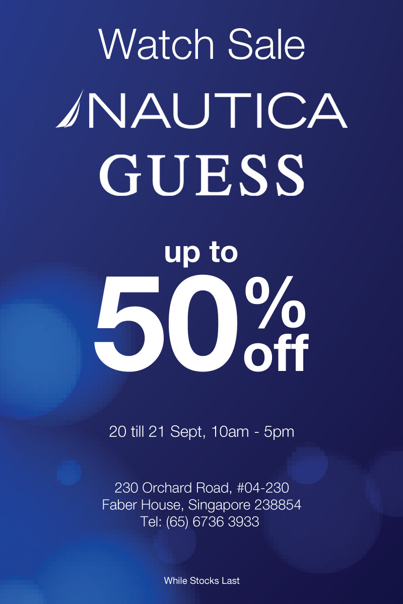 GUESS and Nautica Watch Sale