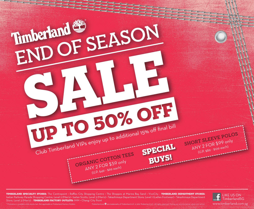 Timberland End Season Sale