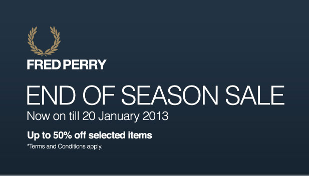 Fred Perry End-Of-Season Sale
