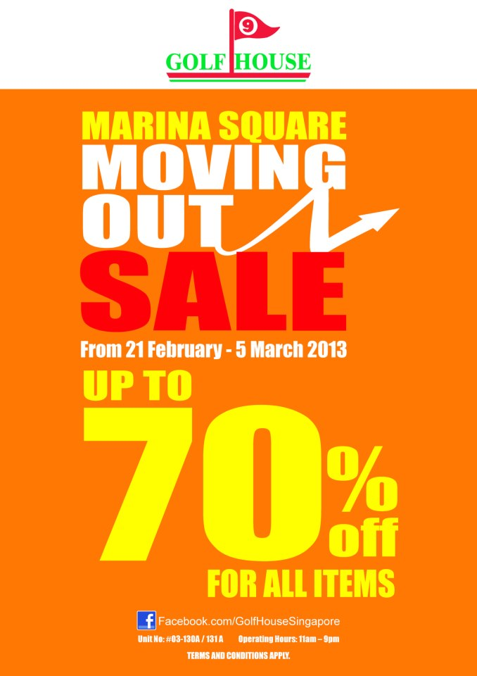 Golf House @ Marina Square Moving Out Sale