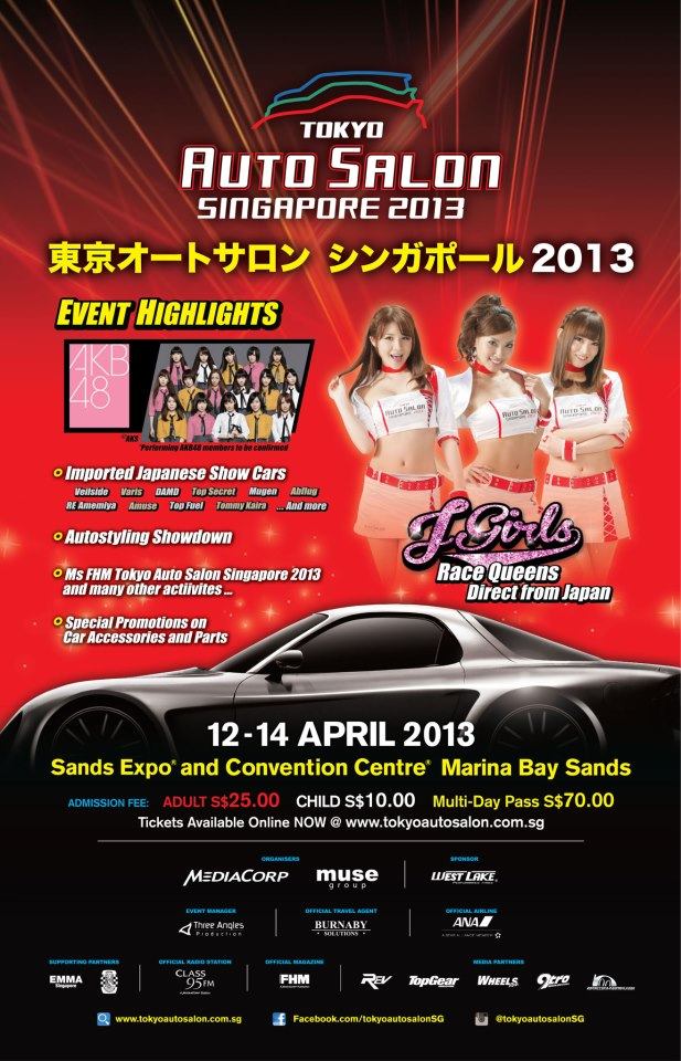 Tokyo Auto Salon Singapore 2013, First Time In 30 Years