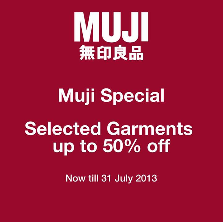 MUJI 50% Off Garments