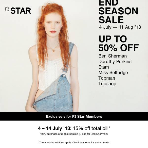 Topshop, Warehouse, Dorothy Perkins and More End Season Sale
