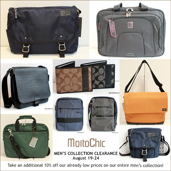 MoltoChic Men's Collection Clearance Sale, Branded Bags & Wallets @ Low Prices