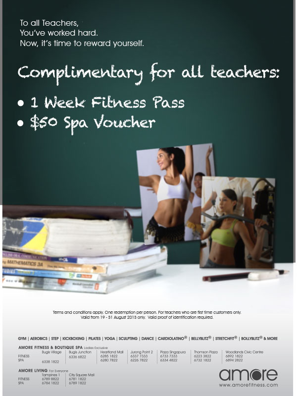 Amore One Week Fitness Spa + $50 Spa Voucher For Teachers
