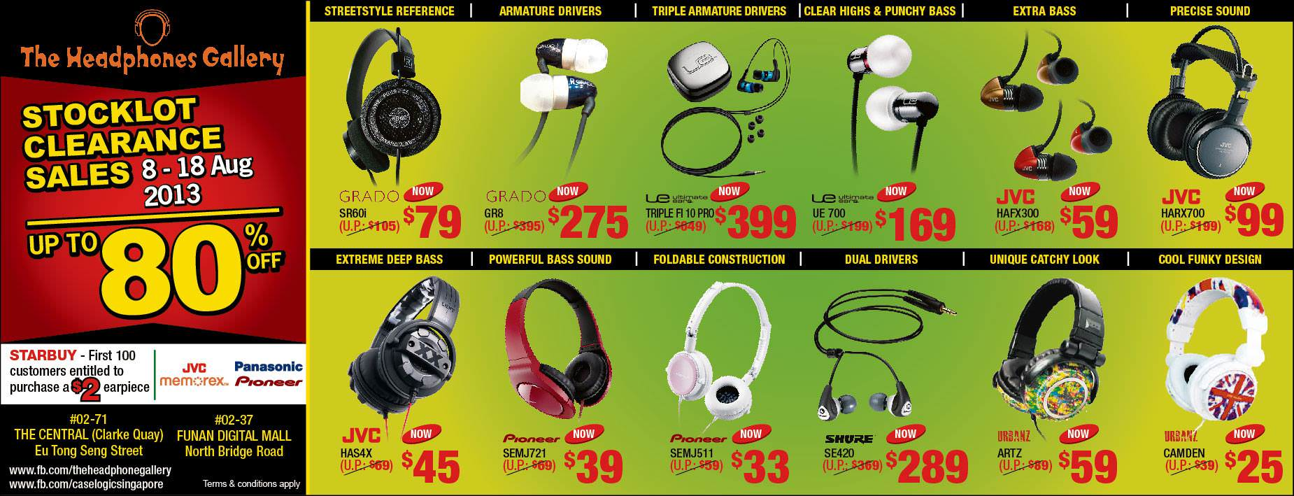The Headphones Gallery Stock Clearance Sale, Up to 80% Discounts