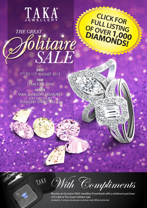 Taka Jewellery – The Great Solitaire Sale 2013