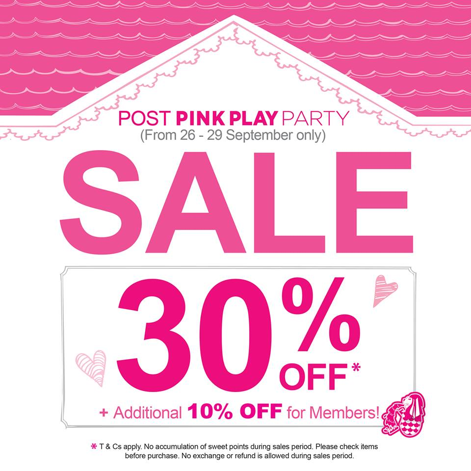 Etude House Post Pink Play Party Sale, 30% Off Storewide Items + 10% Additional For Members