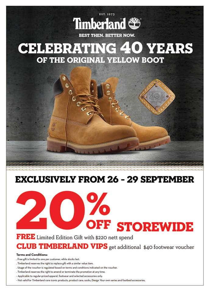 Timberland Celebrates 40 Years With 20% Off Storewide   Tangs ... 8b7ccf21cea7f