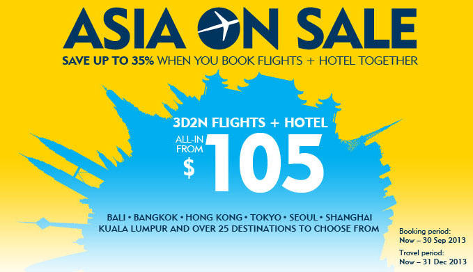 "Expedia ""Asia On Sale"": 3D2N Flights + Hotel To Asia Locations All In From $105"