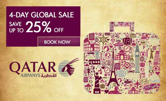Qatar Airways 4-Day Global Sale October 2013, Up To 25% Off International Locations