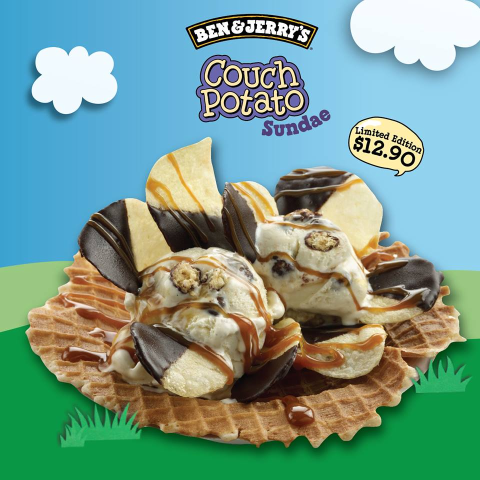 Ben & Jerry Couch Potato Sundae, Limited Edition New Flavour @ $12.90