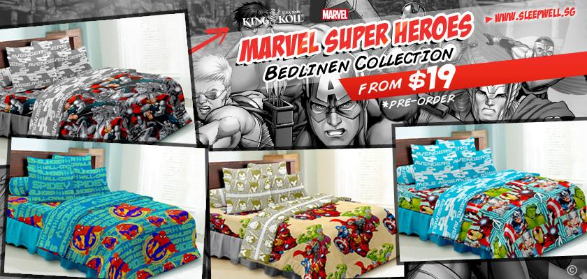 King Koil Marvel Super Heroes Bedlinen Collection Available For Pre-Order Special From $19
