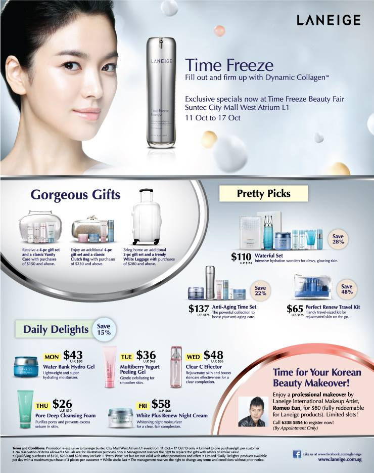 Laneige Time Freeze Beauty Fair @ Suntec City West Atrium