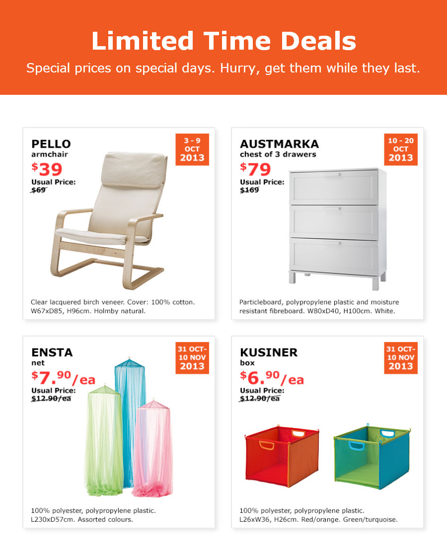 IKEA Limited Time Deals, Chest Drawers From Just $79 & More