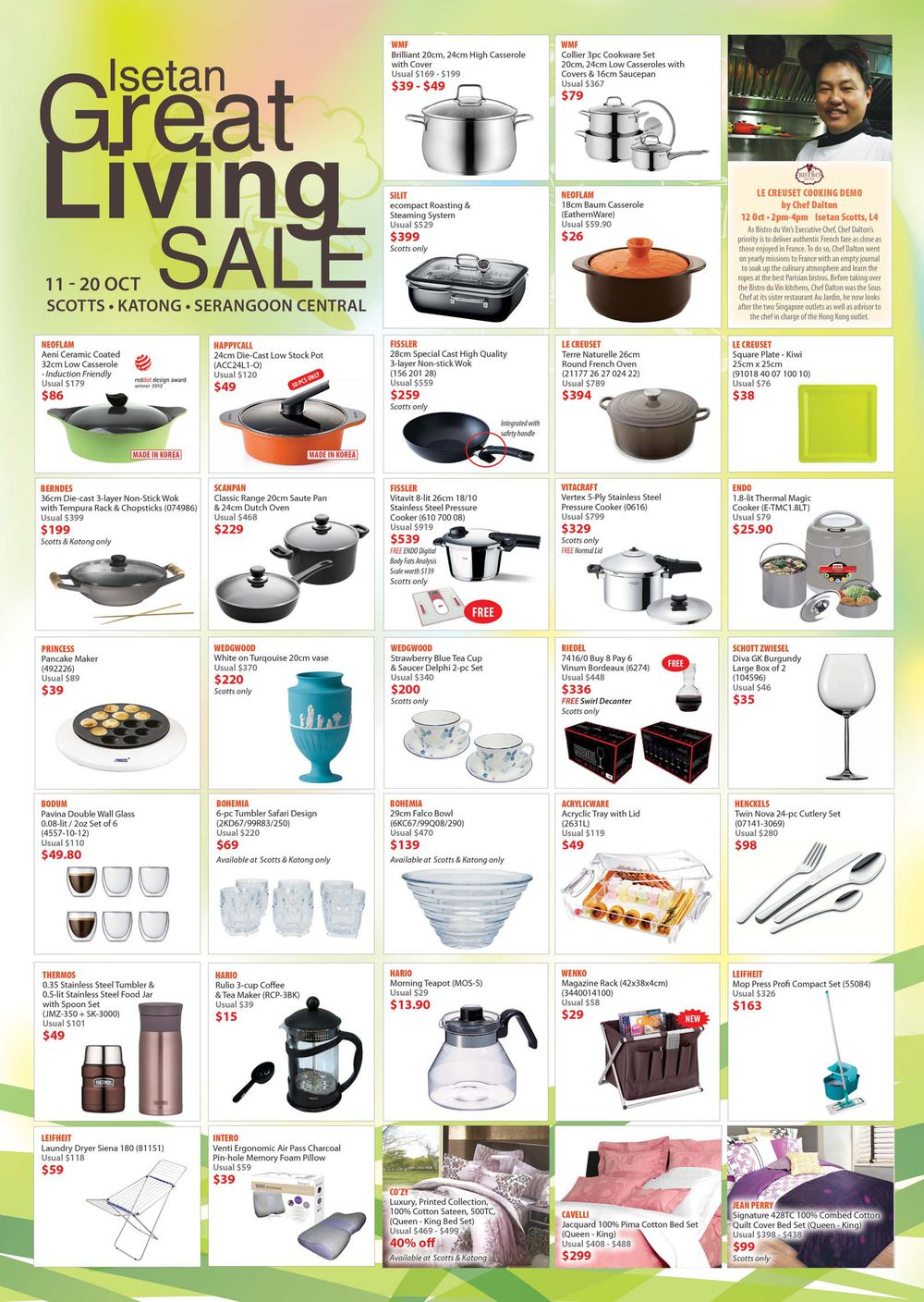 Isetan Great Living Sale October 2013, Cookware & Kitchen Accessories On Discounts