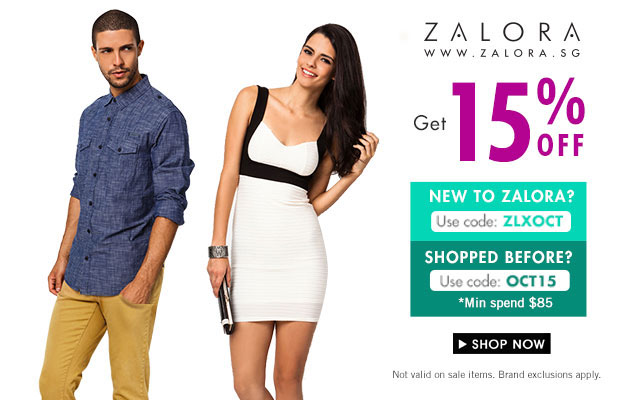 Zalora Discount Coupon Code 15% Off Fall New Arrivals October 2013