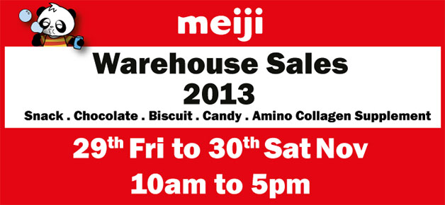 Meiji Warehouse Sale 2013: Bargains On Snacks, Biscuits & Collagen Supplements