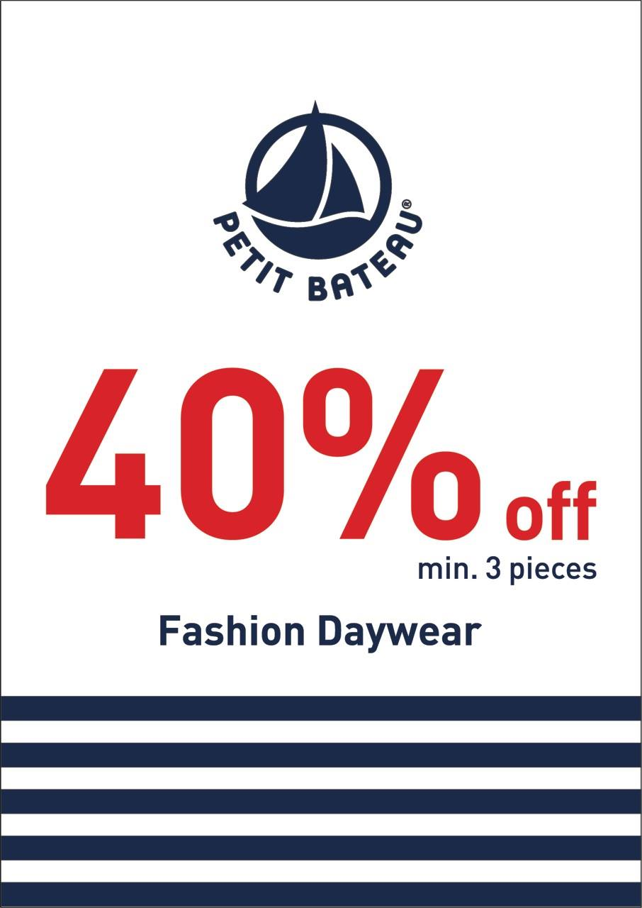 Petit Bateau Singapore Fashion Daywear Sale 40% Off 3 Pieces November 2013 Promotion