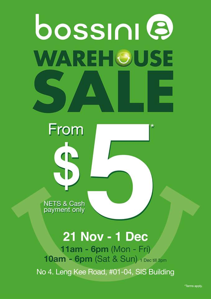 Bossini Warehouse Sale 2013: Apparels From Jaw-Dropping $5 Only