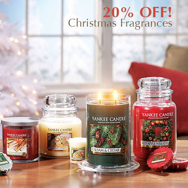 Yankee Candle Christmas Fragrance 20% Discount Year End Promotion On 4 Favourites