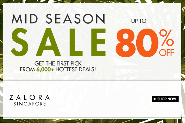 Zalora Mid Season Sale November 2013: Up To 80% Discounts Over 6,000 Items