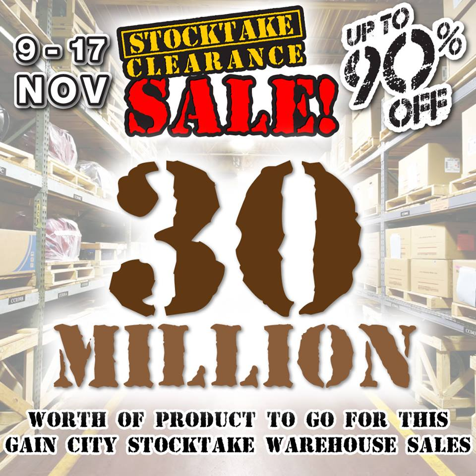Gain City Stocktake Clearance Sale 2013 @ All Showrooms Up To 90% Off 30 Million Worth Of Goods