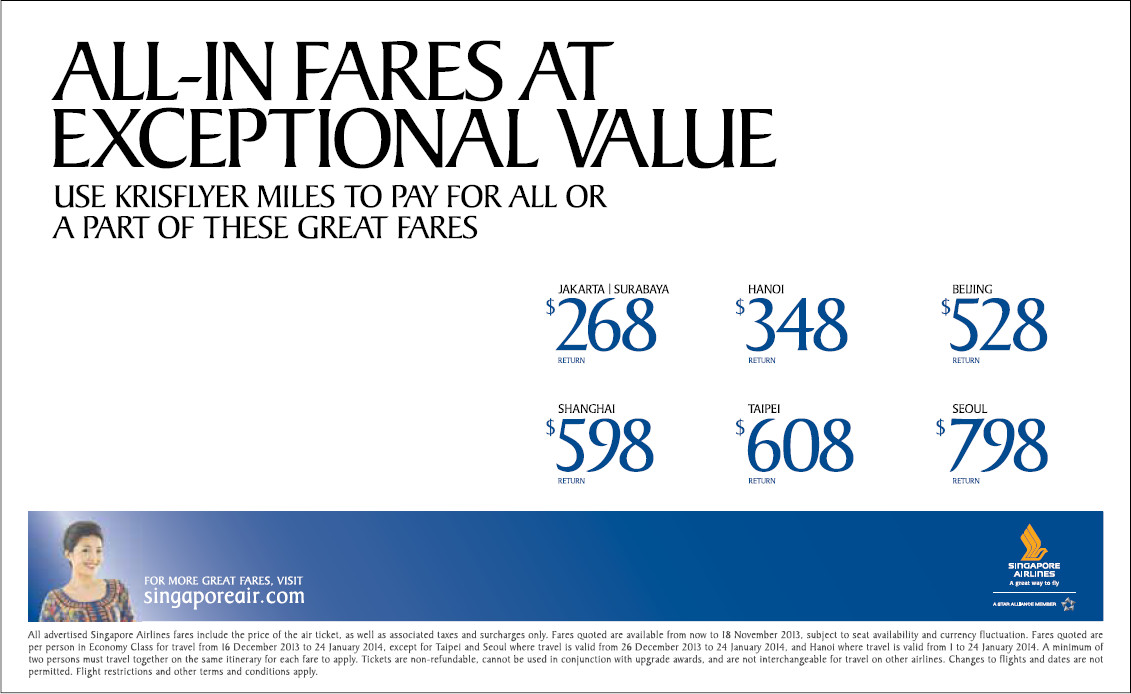 Sq airfare promotion