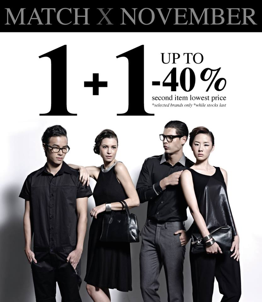 MATCHBOX Multi-Label Store 1+1 Items 40% Discount On Selected Brands November 2013 Special