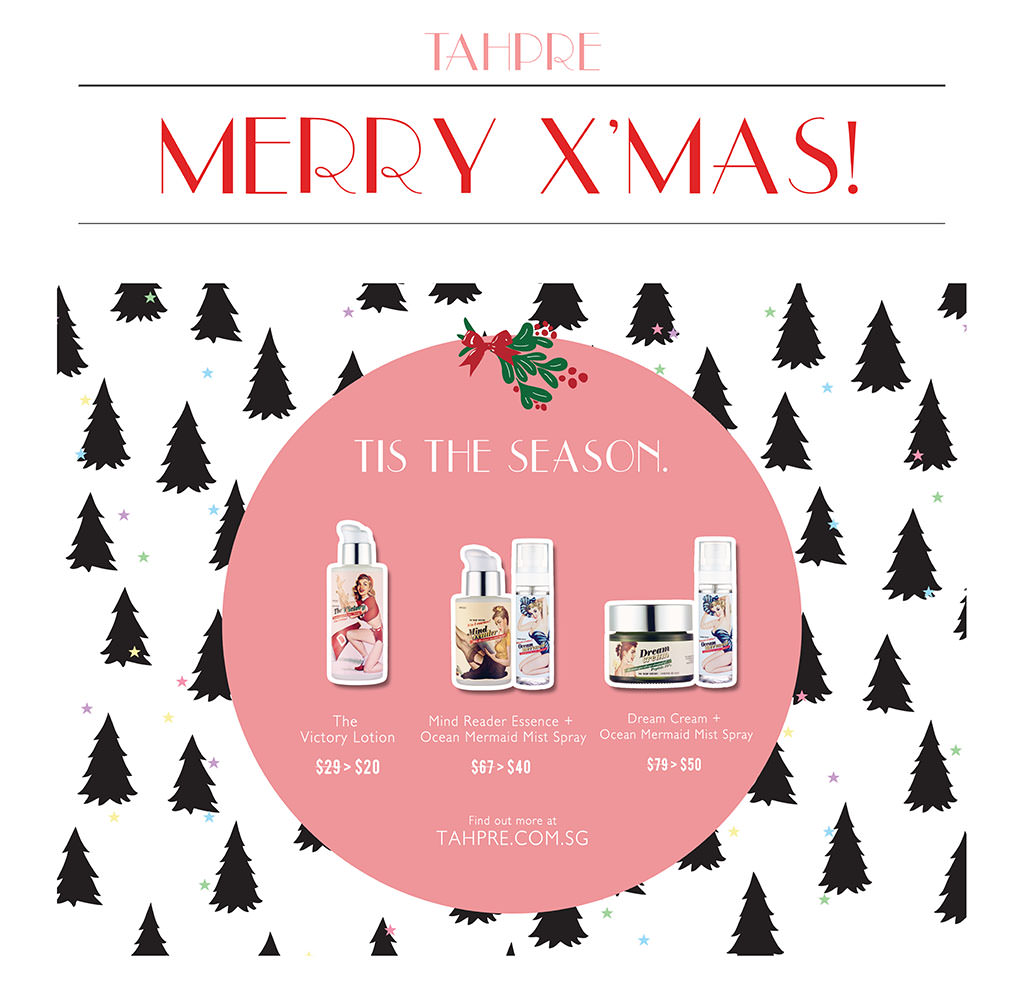 Tahpre Christmas Sale 2013: Discounts On Natural Ingredients Facial & Body Care Products Made In Korea