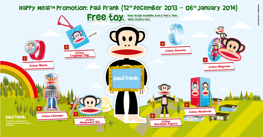 McDonald's Happy Meal Promotion December 2013: Free Paul Frank Toy