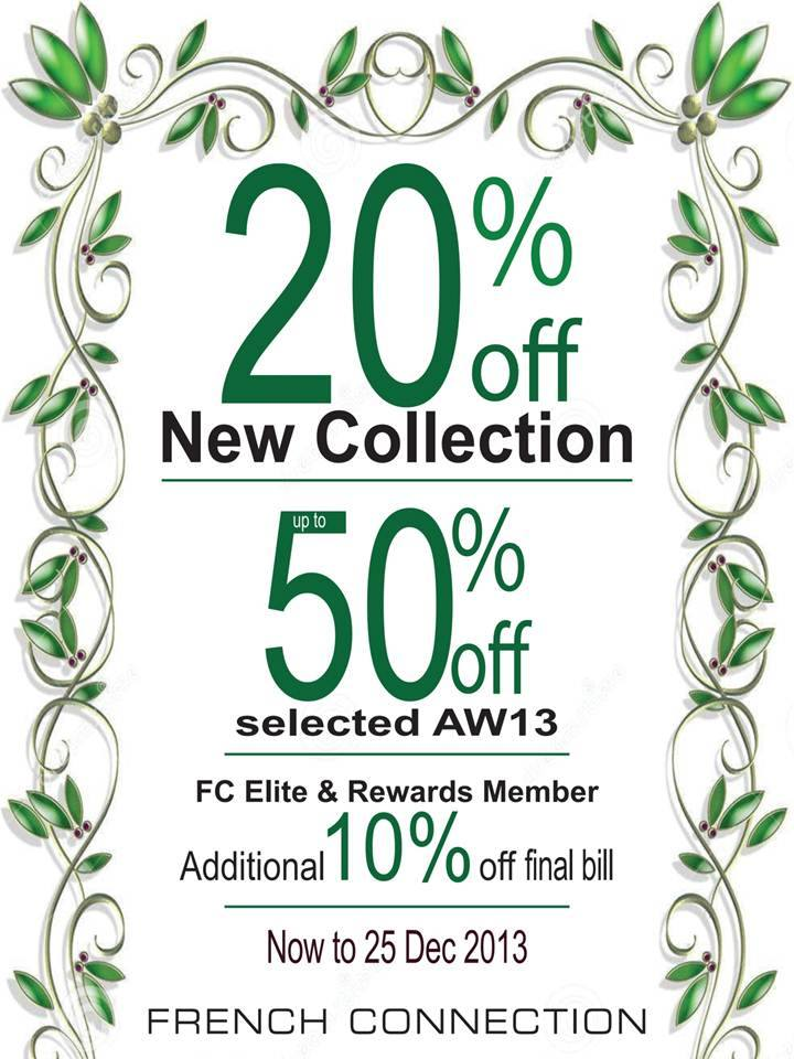French Connection Year End Christmas Sale: Up To 50% Off Selected Autumn/Winter 2013 Collection