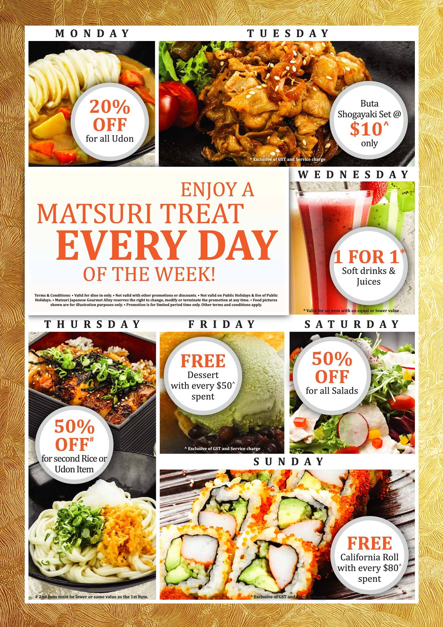 Matsuri Japanese Gourmet Alley Daily Treats @ RWS: Discounts, Free Food, 1-For-1 Deals & More
