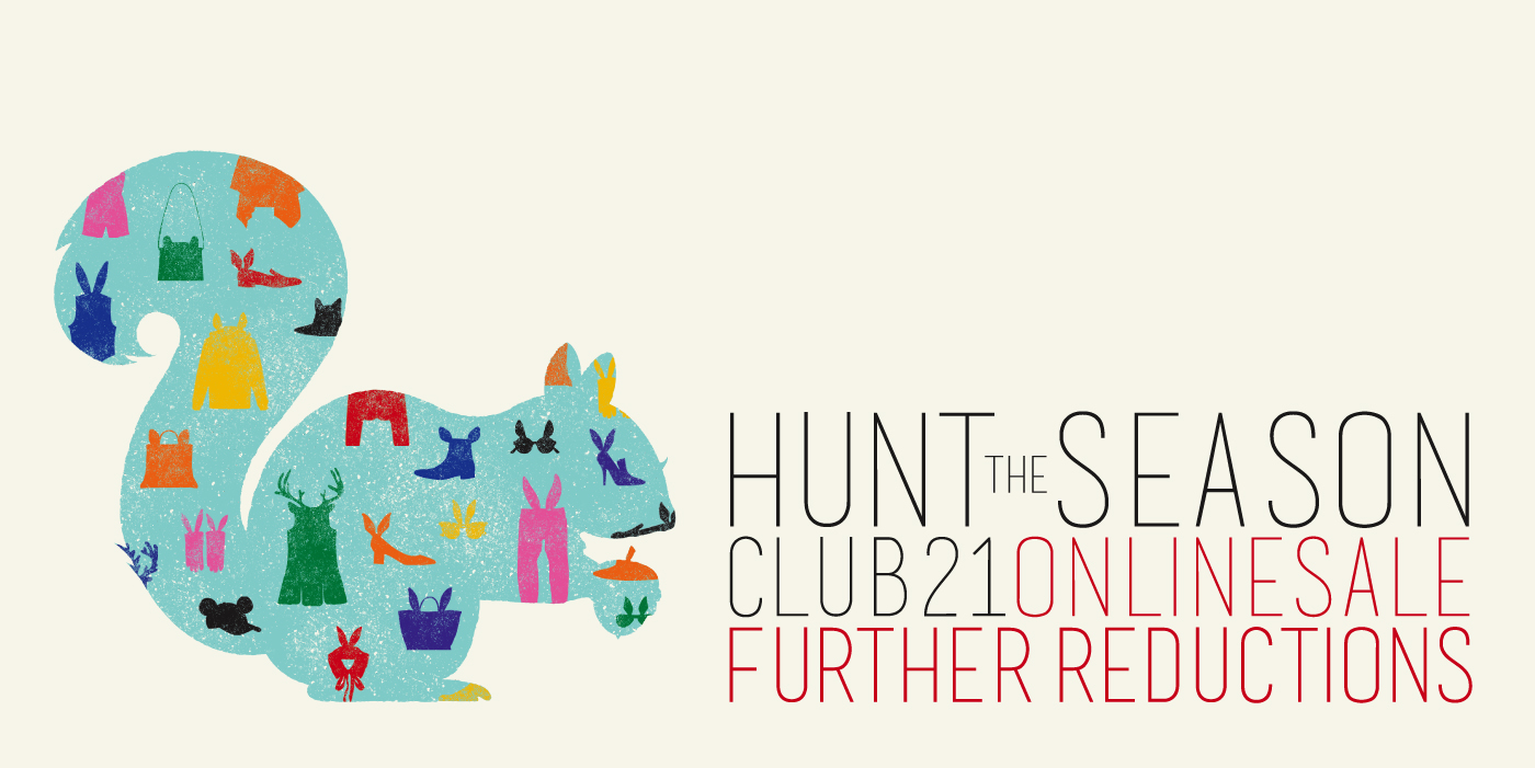 "Club 21 ""Hunt The Season"" Online Shop Further Reductions December 2013"