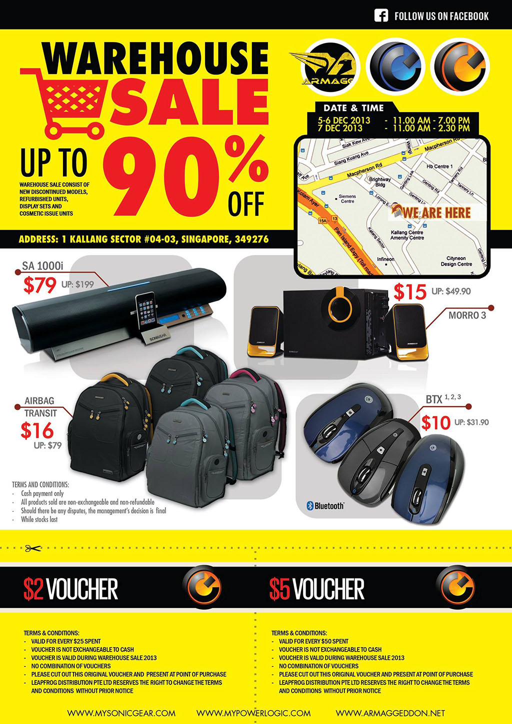 Sonic Gear Warehouse Sale 2013 @ Kallang: Up To 90% Discounts On PC Speakers & Accessories