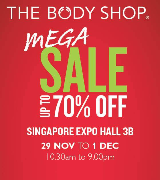 The Body Shop Mega Sale 2013 @ Singapore Expo: Up To 70% Discounts On Beauty & Skin Care Products