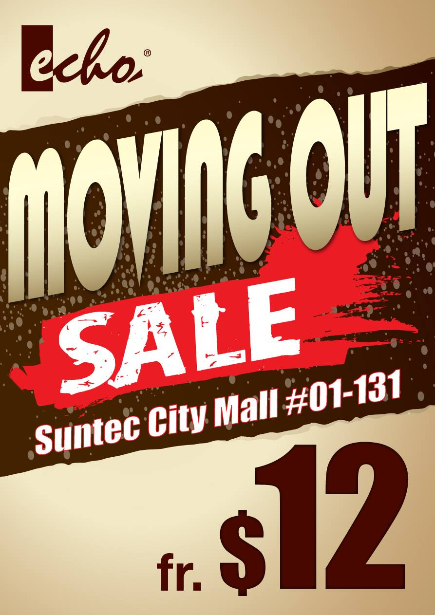 Echo Of Nature Moving Out Sale @ Suntec City, Quality Apparels From Only $12 Onwards