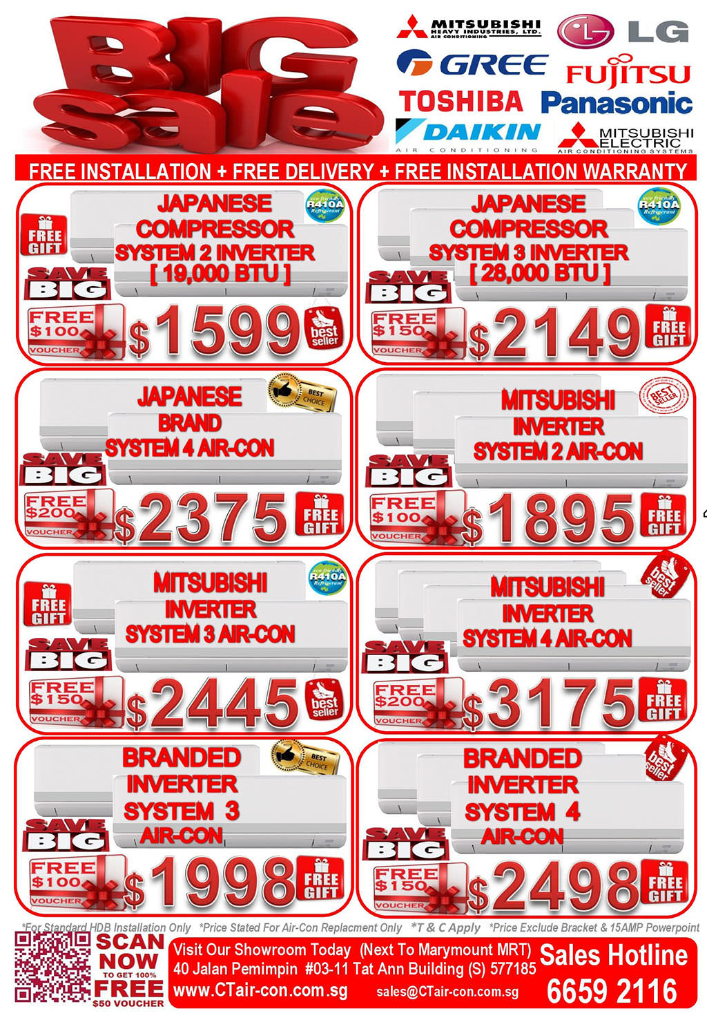 CT Air-con Big Sale On Branded Japanese Compressor Inverter Air-conditioning Systems March 2014