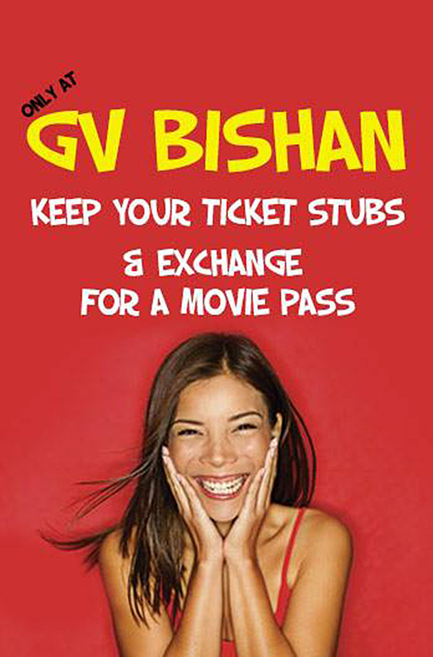 Golden Village Bishan Free Movie Pass When You Bring Back Your Old Ticket Stubs