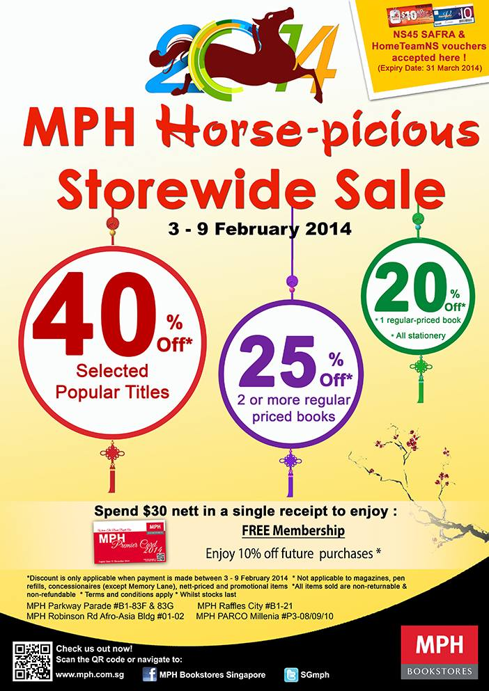 MPH Horsepicious Storewide Books Sale February 2014: 40% Off Selected Popular Titles