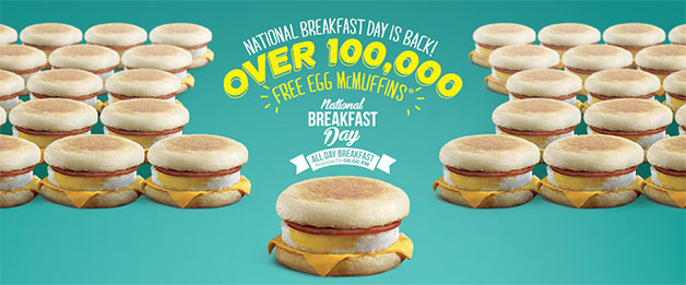 McDonald's Celebrate National Breakfast Day 2014 With 100,000 Free Egg McMuffins