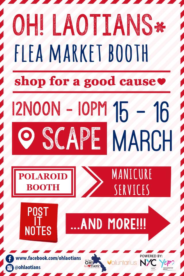 Oh! Laotians Flea Market Booth – Shop For A Good Cause @ *Scape This Weekend