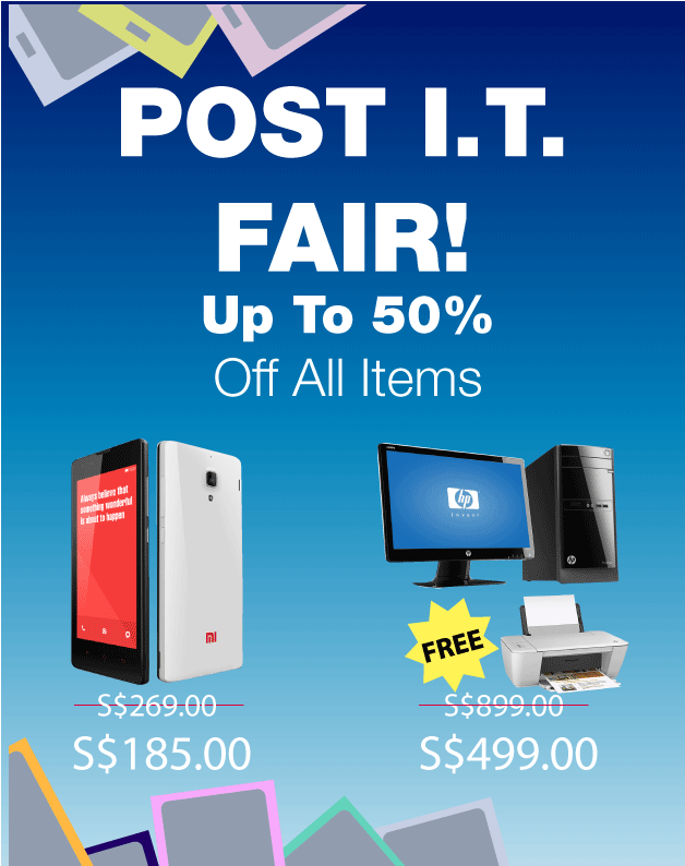 ShopAbout Singapore Post I.T. Fair: Up To 50% Off All Computers, Gadgets & Accessories
