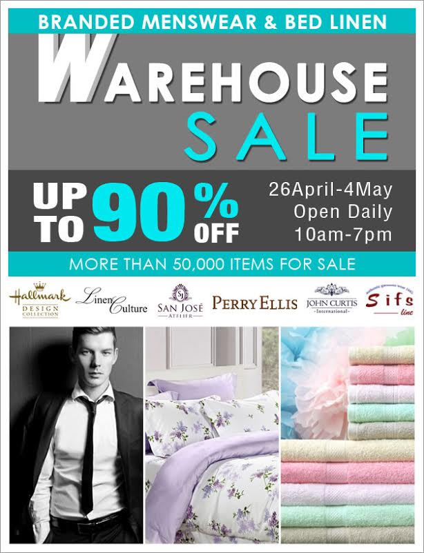 More Than 50,000 Menswear & Bed Linen Products On Discounts @ Biztex Warehouse Sale