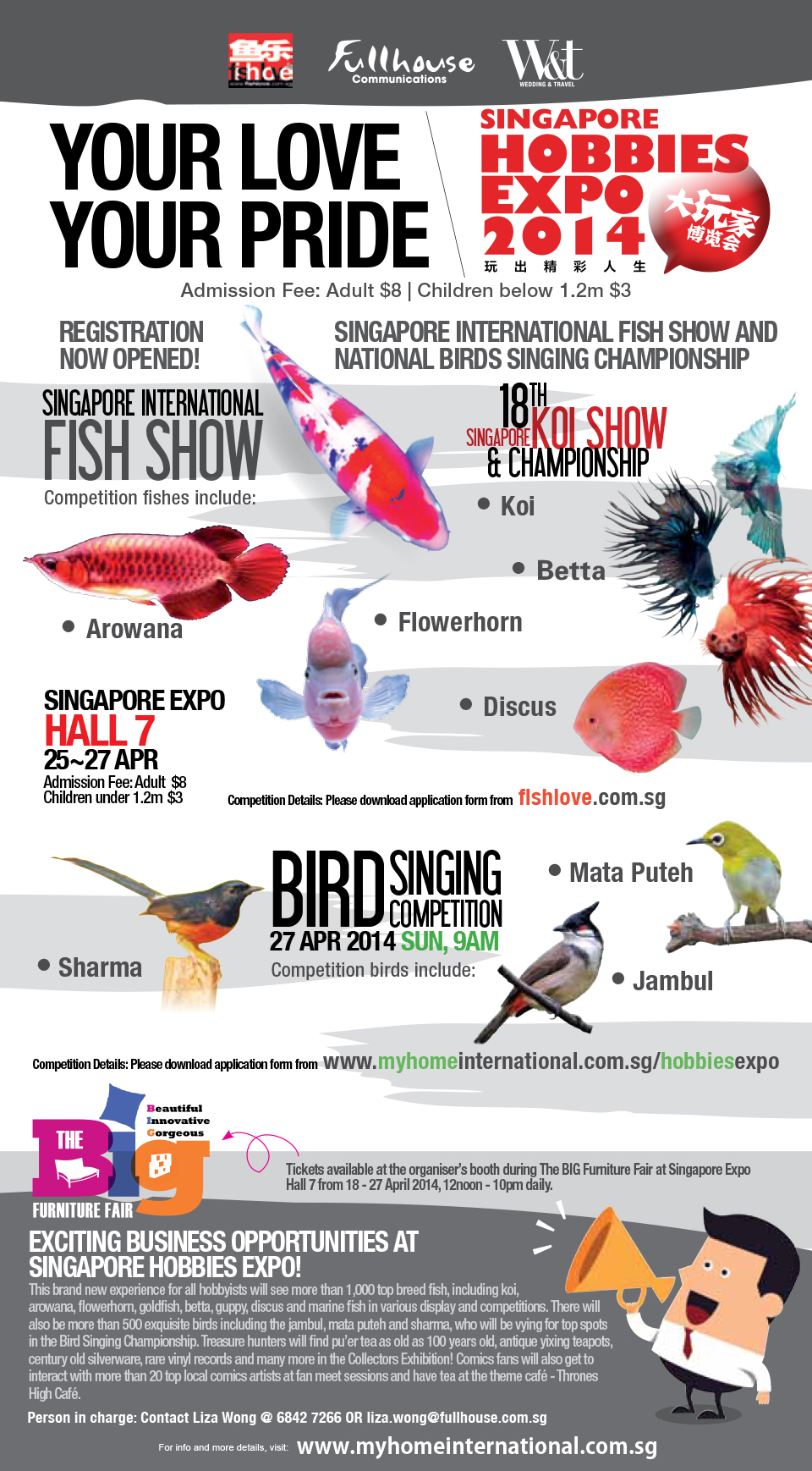 Singapore Hobbies Expo 2014 Happens This Weekend: Fish, Birds, Comics & Collectors Exhibition